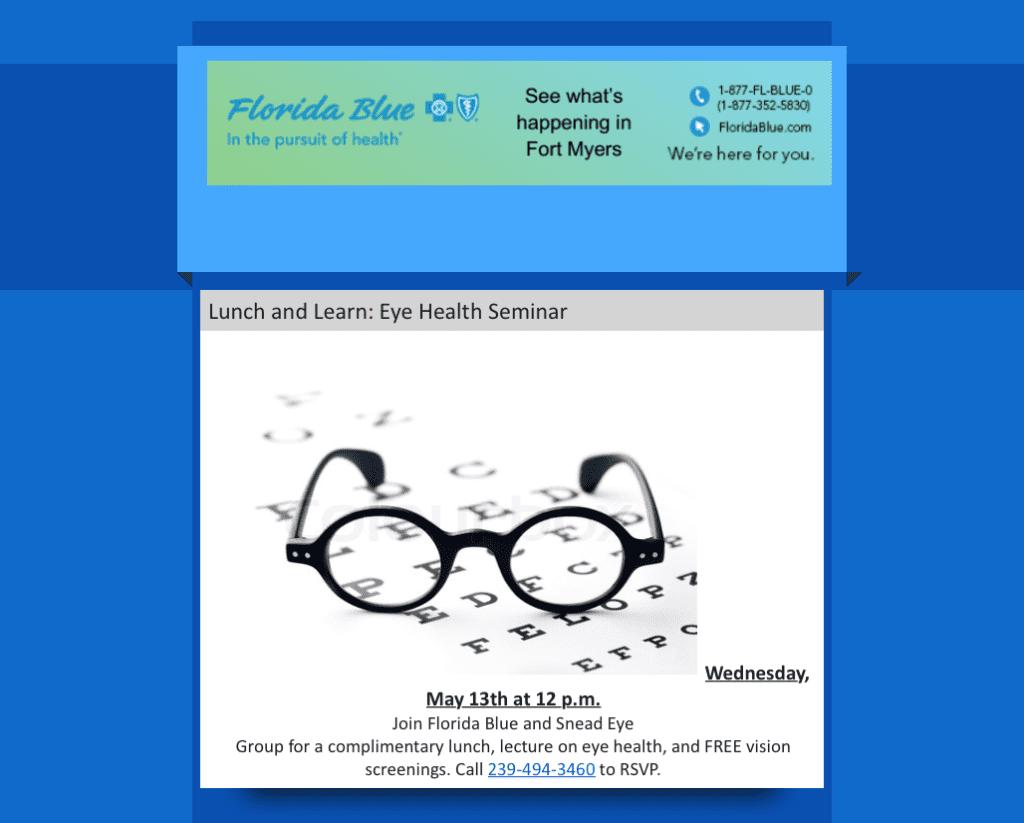 Snead Eye Group Free Vision Screenings and Cataract Screenings