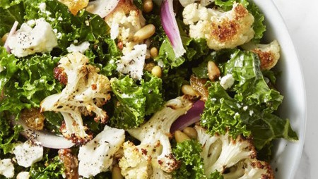 Kale/Roasted Cauliflower Salad