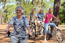 patients with cataracts riding a bike
