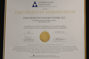 Fort Myers eye surgery center certification